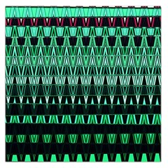 Green Triangle Patterns Large Satin Scarf (Square)