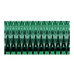 Green Triangle Patterns Satin Wrap