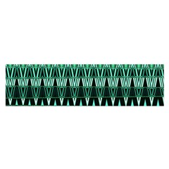 Green Triangle Patterns Satin Scarf (Oblong)
