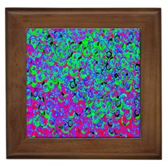 Green Purple Pink Background Framed Tiles