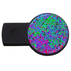 Green Purple Pink Background USB Flash Drive Round (4 GB)