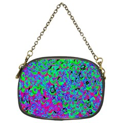 Green Purple Pink Background Chain Purses (two Sides)