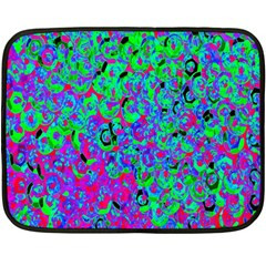 Green Purple Pink Background Fleece Blanket (Mini)