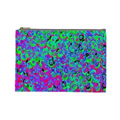 Green Purple Pink Background Cosmetic Bag (large)