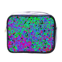 Green Purple Pink Background Mini Toiletries Bags