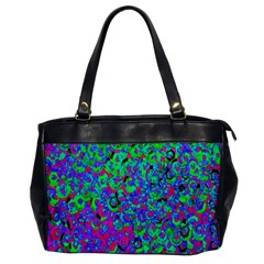 Green Purple Pink Background Office Handbags