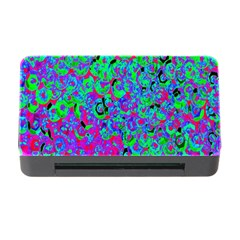 Green Purple Pink Background Memory Card Reader with CF