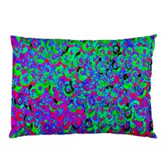 Green Purple Pink Background Pillow Case (Two Sides)