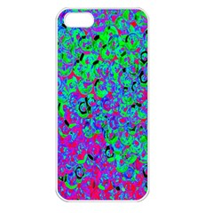 Green Purple Pink Background Apple iPhone 5 Seamless Case (White)