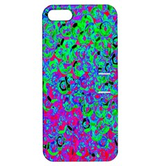 Green Purple Pink Background Apple iPhone 5 Hardshell Case with Stand