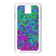 Green Purple Pink Background Samsung Galaxy Note 3 N9005 Case (White)