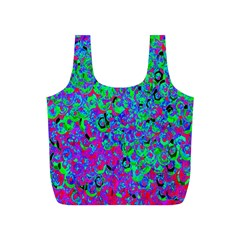 Green Purple Pink Background Full Print Recycle Bags (S)
