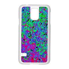 Green Purple Pink Background Samsung Galaxy S5 Case (White)