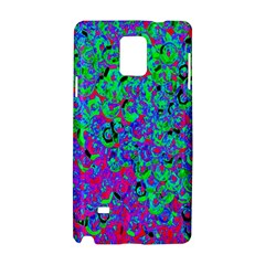 Green Purple Pink Background Samsung Galaxy Note 4 Hardshell Case