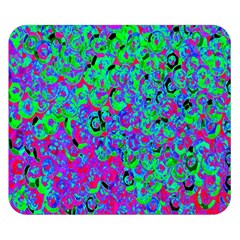 Green Purple Pink Background Double Sided Flano Blanket (small)