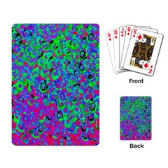 Green Purple Pink Background Playing Card