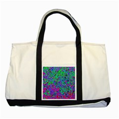 Green Purple Pink Background Two Tone Tote Bag