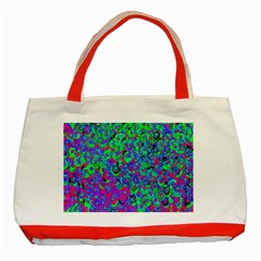Green Purple Pink Background Classic Tote Bag (Red)