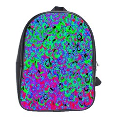 Green Purple Pink Background School Bags(large)