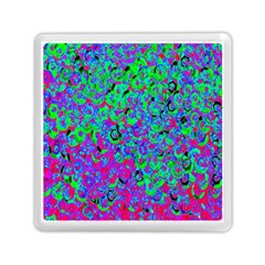 Green Purple Pink Background Memory Card Reader (square)