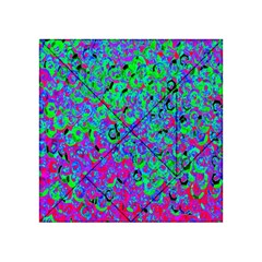 Green Purple Pink Background Acrylic Tangram Puzzle (4  x 4 )