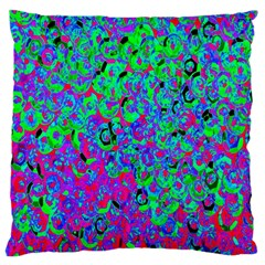Green Purple Pink Background Large Cushion Case (Two Sides)