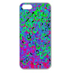 Green Purple Pink Background Apple Seamless iPhone 5 Case (Clear)
