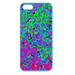 Green Purple Pink Background Apple Seamless Iphone 5 Case (color)