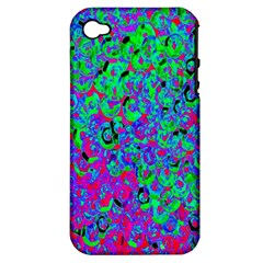 Green Purple Pink Background Apple Iphone 4/4s Hardshell Case (pc+silicone)