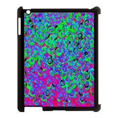 Green Purple Pink Background Apple Ipad 3/4 Case (black)