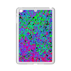 Green Purple Pink Background iPad Mini 2 Enamel Coated Cases