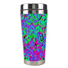 Green Purple Pink Background Stainless Steel Travel Tumblers