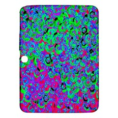 Green Purple Pink Background Samsung Galaxy Tab 3 (10 1 ) P5200 Hardshell Case
