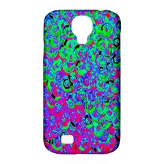 Green Purple Pink Background Samsung Galaxy S4 Classic Hardshell Case (PC+Silicone)