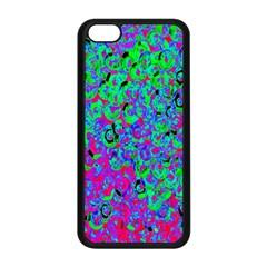 Green Purple Pink Background Apple iPhone 5C Seamless Case (Black)