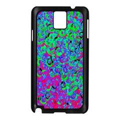 Green Purple Pink Background Samsung Galaxy Note 3 N9005 Case (black)