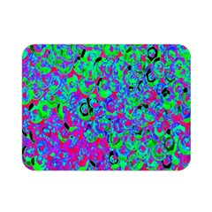 Green Purple Pink Background Double Sided Flano Blanket (Mini)