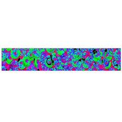 Green Purple Pink Background Flano Scarf (Large)