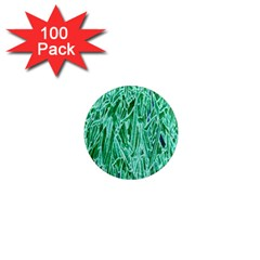 Green Background Pattern 1  Mini Magnets (100 Pack)