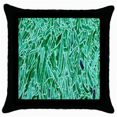 Green Background Pattern Throw Pillow Case (Black)