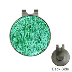 Green Background Pattern Hat Clips with Golf Markers