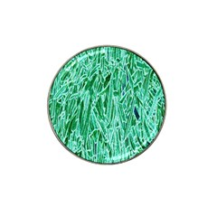 Green Background Pattern Hat Clip Ball Marker (4 Pack)