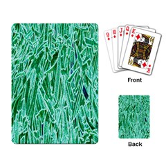 Green Background Pattern Playing Card