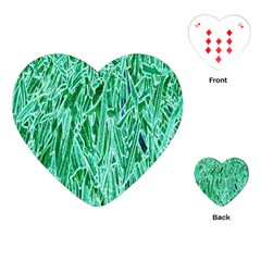 Green Background Pattern Playing Cards (Heart)