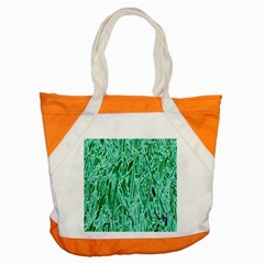 Green Background Pattern Accent Tote Bag