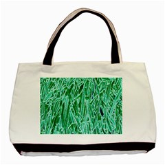 Green Background Pattern Basic Tote Bag (Two Sides)