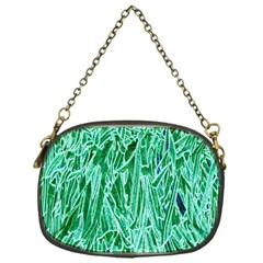 Green Background Pattern Chain Purses (One Side)
