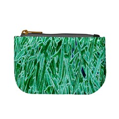 Green Background Pattern Mini Coin Purses