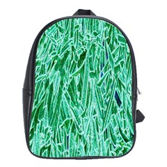 Green Background Pattern School Bags(large)