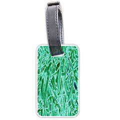 Green Background Pattern Luggage Tags (One Side)